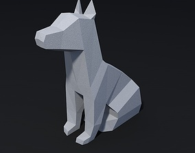 3D printable model low poly dog