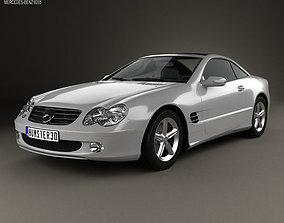 Mercedes-Benz SL-Class R230 2001 3D model benz