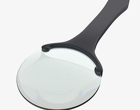 3D Magnifying glass zoom scientific