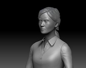 Japanese office lady Zbrush 3D model