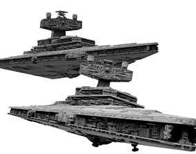 Imperial Star Destroyer I and II Star Wars - High 3D 1