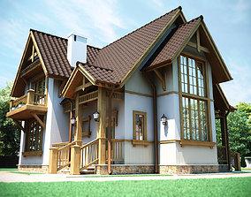European country house 3D