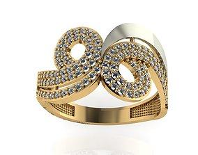 3D print model ring stone 16