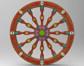 Wheel of Sicilian Cart 3D model