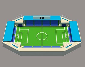 stadium low poly 3D asset