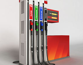 Fuel dispenser building 3D model