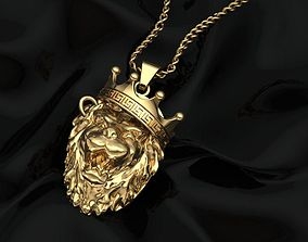 3D printable model lion king pendant