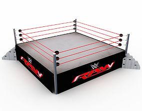 WWE Wrestling Ring 3D model