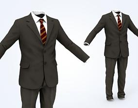 character Business Suit Man 3D model realtime