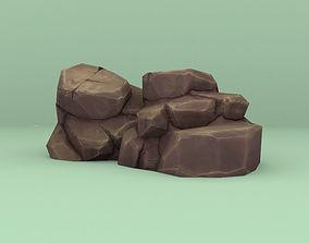 3D model Lowpoly Cartoon Rocks