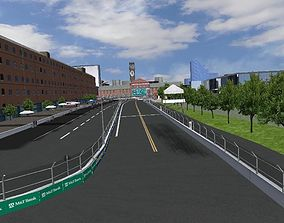 3D asset Baltimore Maryland USA Track