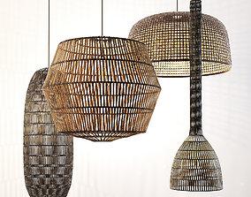 ay illuminate rattan lamp set 3D