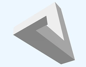 3D model Impossible triangle in stl format