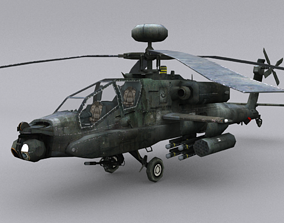 Boeing AH-64 Apache 3D model low-poly