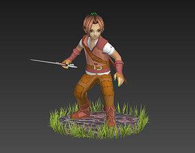 Fantasy Boy 3D model animated