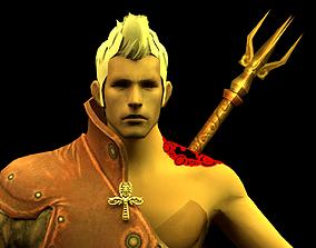 animated Survivor Man Low-poly 3D model