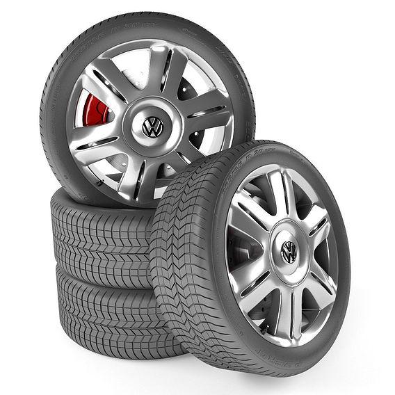Volkswagen Passat Wheel 3D model