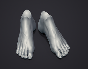 3D print model Doll feet