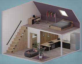 Apartment - Low poly 3D asset