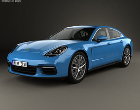 saloon Porsche Panamera 4S 2016 3D model