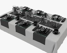 plate 3D Table setting Luminarc Quadrato Black