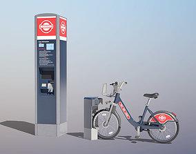 Public Bicycle Hire Scheme 3D model