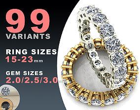 3D print model Eternity diamond rings set