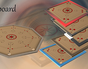 3D model low-poly Low Poly Board Game Pack