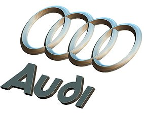 3D print model Audi logo car logotype