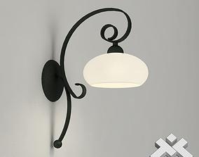 Wrought Iron Wall Lamp 3D asset