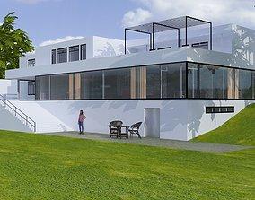 3D Casa Tugendhat villa architect