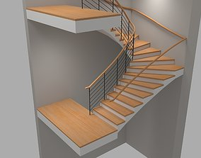 U Stair For Small Areas 3D model