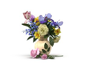 Bouquet Flowers fres 3D