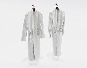 Two white bathrobes 3D