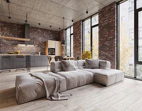 3D Loft Apartment Design