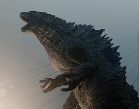 Godzilla kaiju titan 3D model
