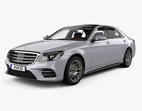 3D model Mercedes-Benz S-class V222 LWB AMG Line with HQ 1