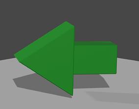 Simple Arrow 3D asset