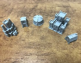 3D printable model Dwarf buildings for board