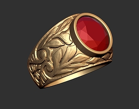 3D print model Natural Carved Ring