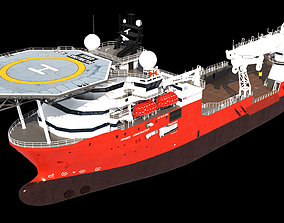 3D Subsea support and construction vessel