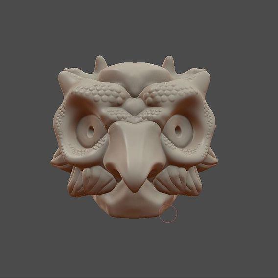 Owl mask ( Work in progress )