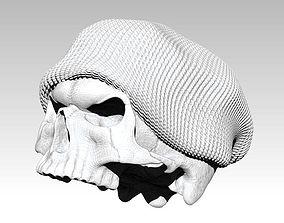 Realistic Angry man skull ski snowboard hat 3d printable