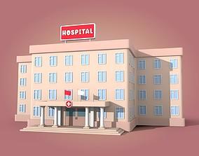 3D model realtime Cartoon Hospital