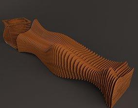 3D model outdoor Parametric bench