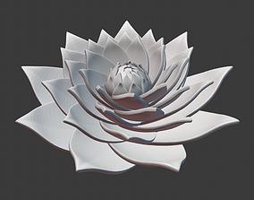 3D printable model Lotus spiral