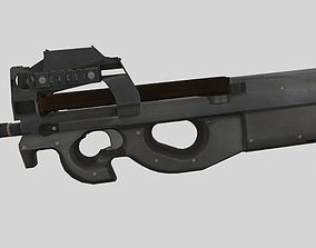 3D model Submachine gun P90