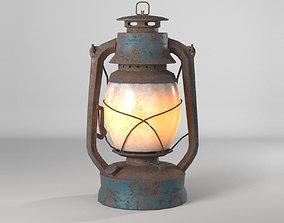 3D asset rusty lantern--Royalty free-- PBR
