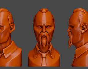 Stylized Angry Man Sculpt Character 3D printable model