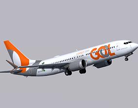 3D model Boeing 737 MAX-8 GOL Linhas Aereas